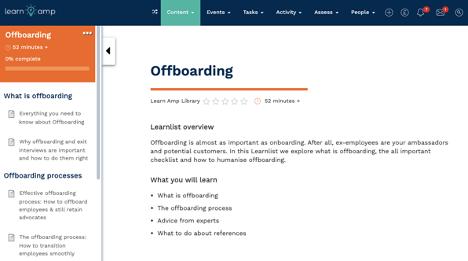 Offboarding learnlist
