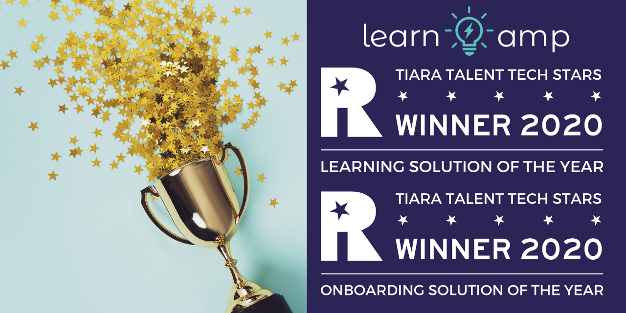 Learn Amp named Learning Solution of the Year and Onboarding Solution of the Year