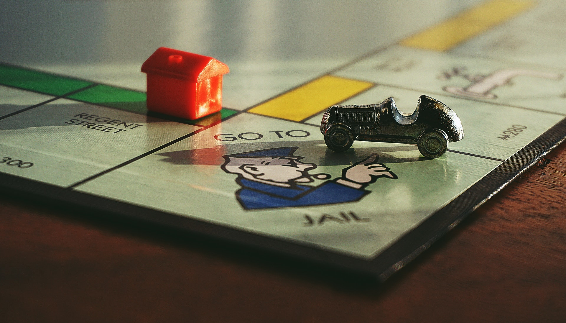 Monopoly board - go to jail